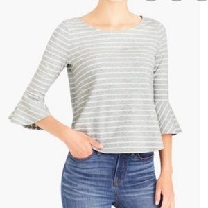 J. Crew mercantile striped bell sleeve shirt
